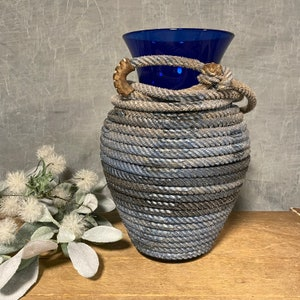 Lariat Wrapped Clay Pot