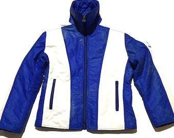 Jahrgang MONCLER Jacke, 1970er Jahre Puffer Jacke, rote Jacke, gesteppte Jacke, Vintage Parka, Skijacke