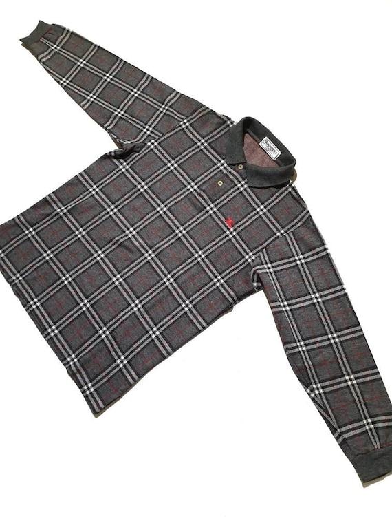 Vintage Burberrys Checkered Polo Shirts