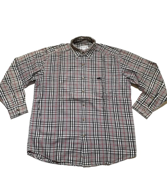Vintage Burberrys Checkered Flannel Shirts
