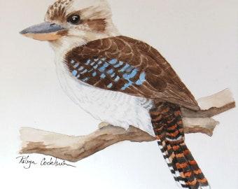 Kookaburra ORIGINAL Watercolour Painting, A4