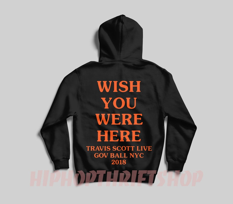 New Astroworld Hoodie Sicko Mode Wish You Were Here Hoodie  cb3ffed3c809