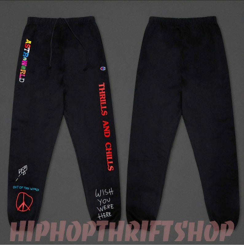 cc3f590fb193 Travis Scott ASTROWORLD Jogger Pants Wish You Were Here | Etsy