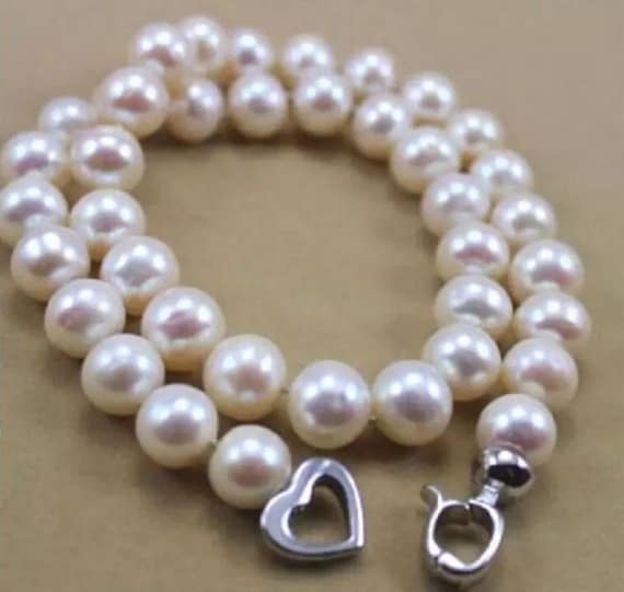 """REAL CHARMING 18/"""" 9-10 MM SOUTH SEA YELLOW NATURAL PEARL NECKLACE 14k"""
