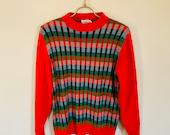 Vintage Retro Hipster Plaid Check Mid Century Mod Christmas Sweater