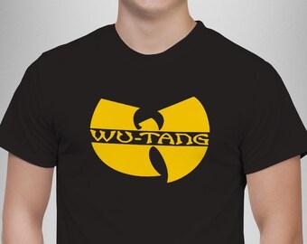 Wu-Tang Clan Logo T-shirt WuTang Tour Tickets Album CREAM New Black Tshirt 0ef4601d6aa5