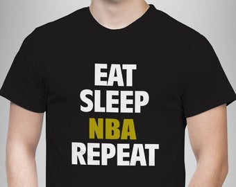 5f7a24325 Eat Sleep NBA Repeat TSHIRT Funny basketball T Shirt Birthday gift adults  kids