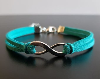 Infinity Bracelet Charm Sea Green Jewelry Turquoise Birthday Gifts For Women Gift Best Friends Girlfriend