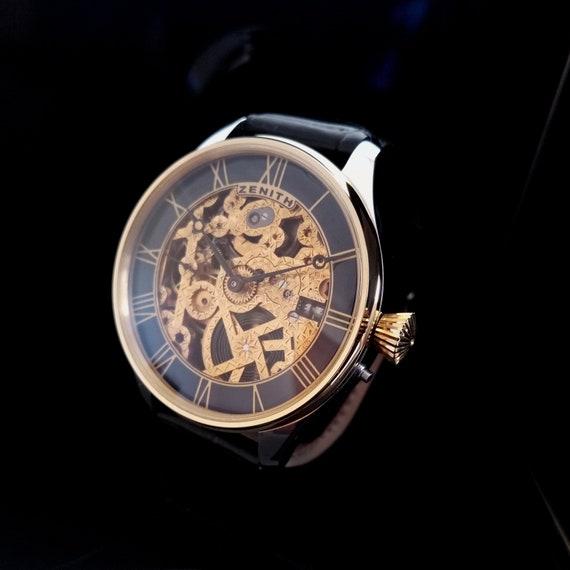 RESERVED ZENITH SKELETON Wristwatch, Cal.18,28, Cu