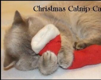 Extra Strong Catnip Cat Toy, Red Fleece Stocking. UK seller
