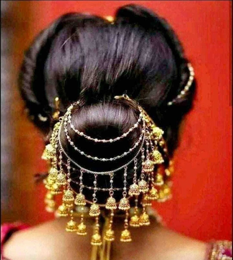 Traditional Bridal Indian Pretty Hairstyle Indian Brides Jewellery Accessories