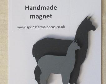 Alpaca or Llama wooden magnet