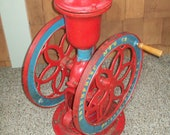 Antique 1898 Enterprise Cast Iron Hand Crank Coffee Grinder Swift Mill Double Wheel Mercantile Store Coffee Bean Grinding Mill