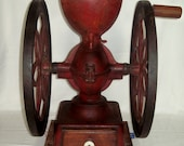 Antique 1878 Enterprise Cast Iron Hand Crank Coffee Grinder Swift Mill Double Wheel Mercantile Store Coffee Bean Grinding Mill