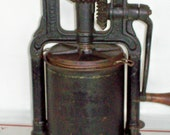4 Qt. National Specialty M 39 F 39 G. Co. Sausage Stuffing Press Hand Crank Fruit Press Nice Antique Display Piece