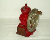Vintage Original Cast Iron Coffee Bean Grinding Mill Pencil Sharpener Made in Japan