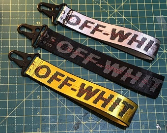 aac2942d09 Custom off white keychain