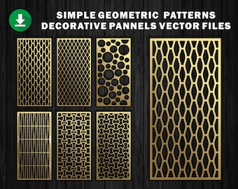48 Geometric Patterns CNC File Laser Cutting File Dxf | Etsy