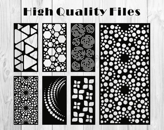Set of abstract pattern for panels | VECTOR FILES | CNC | Laser Cutting  File Dxf, Svg, Jpg, Cdr, Eps Vector