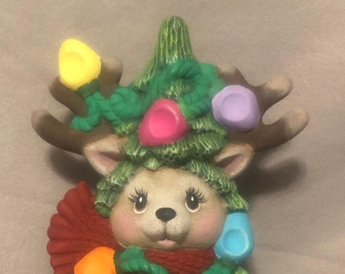 Reindeer Christmas Tree Ceramic Art