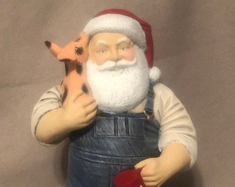 Farmer Santa one of a kind painting