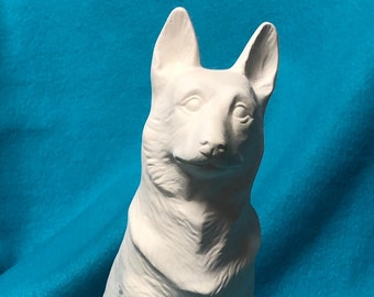 German Shepherd Ceramic Bisque