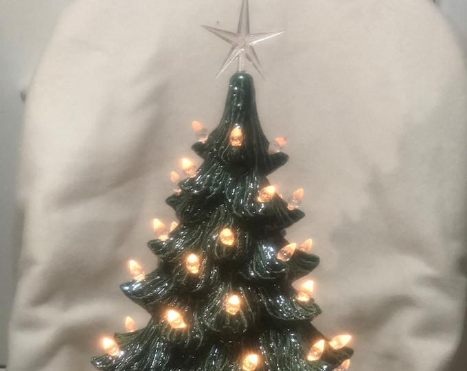 Glazed Bluegrass Christmas Tree with clear light pack