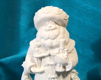 Nutcracker Santa Ceramic Bisque ready to paint