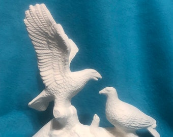 Eagle Family Ceramic Bisque