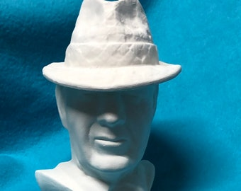 Bear Bryant Bust Ceramic Bisque