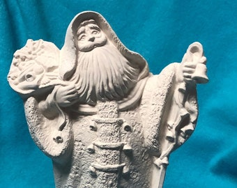 Old World Santa in Robe Ceramic Bisque