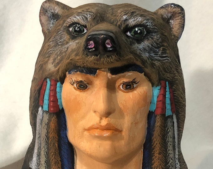 Indian with Bear Bust
