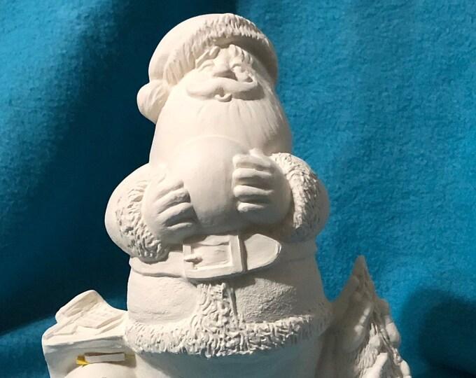 Bowling Santa ready to paint