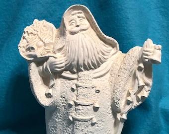 Vintage Santa Ceramic Bisque ready to paint