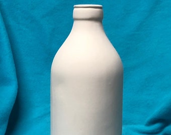 Old Fashion Milk Bottle Ceramic Bisque