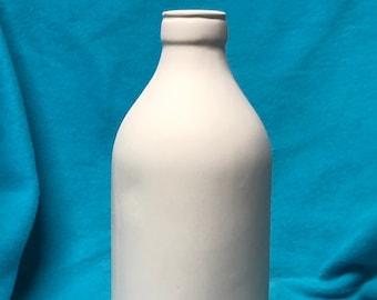 Old Fashion Milk Bottle Ceramic Bisque