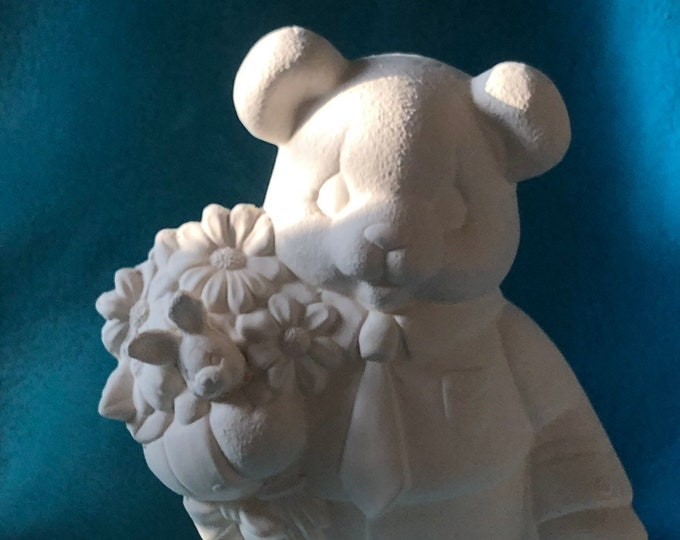 Easter Bear Male Ceramic Bisque
