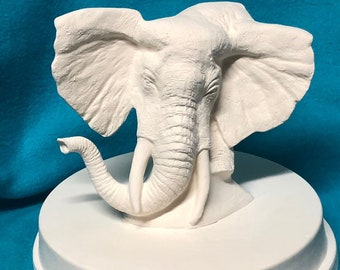 Elephant Ceramic Bisque with Base
