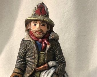 Vintage Fireman Ceramic Art