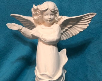 Descending Angel Ceramic Bisque