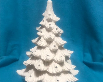 Small Ceramic Bisque Christmas Tree ready to paint