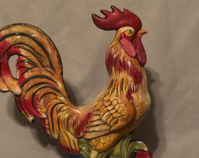 Featured listing image: Large Rooster Ceramic Art