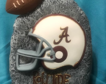 Stone Football Plaque made of Ceramic