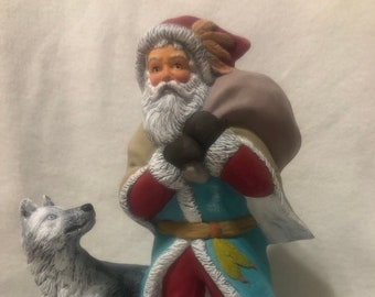 Indian Santa with Wolf using Mayco Softee Stains