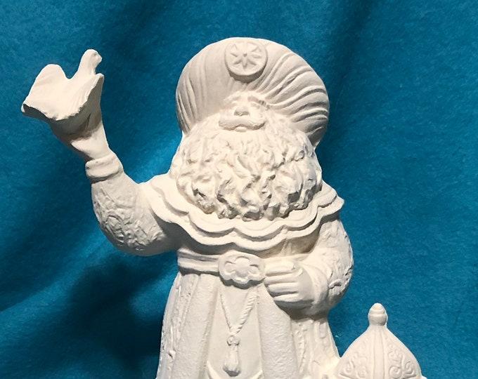 Peace Dove Santa Ceramic Bisque