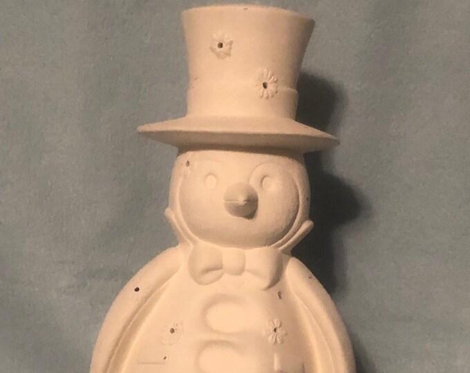 Snowman Votive Candle Holder