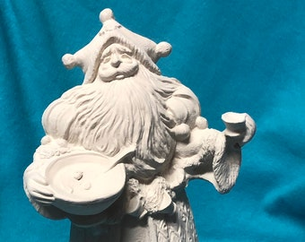 Old World Santa Ceramic Bisque ready to paint