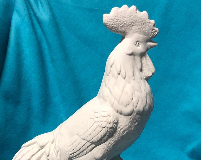Ceramic Rooster ready to paint