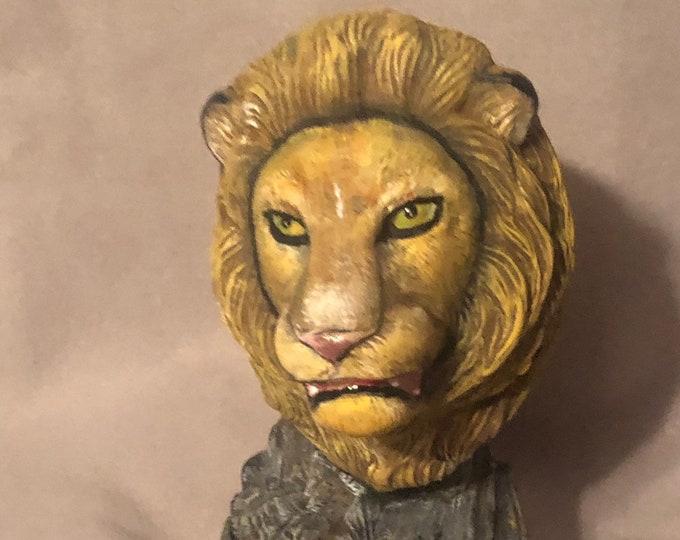Driftwood Lion Ceramic Bust