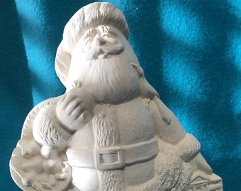 Ceramic Georgia Santa ready to paint